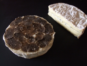 Coulommiers with Truffles (1/2), cow milk cheese available to sell