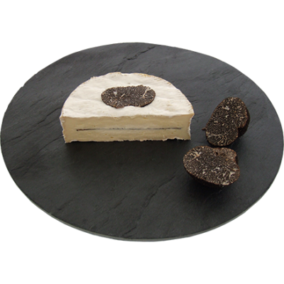 Coulommiers with black truffles 1/2, cow milk cheese available to sell