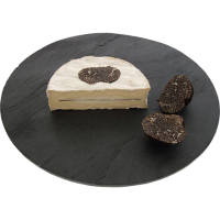 Coulommiers with black truffles  1/2, cow milk cheese