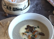 Mushrooms and Vacherin Mont d'or soup